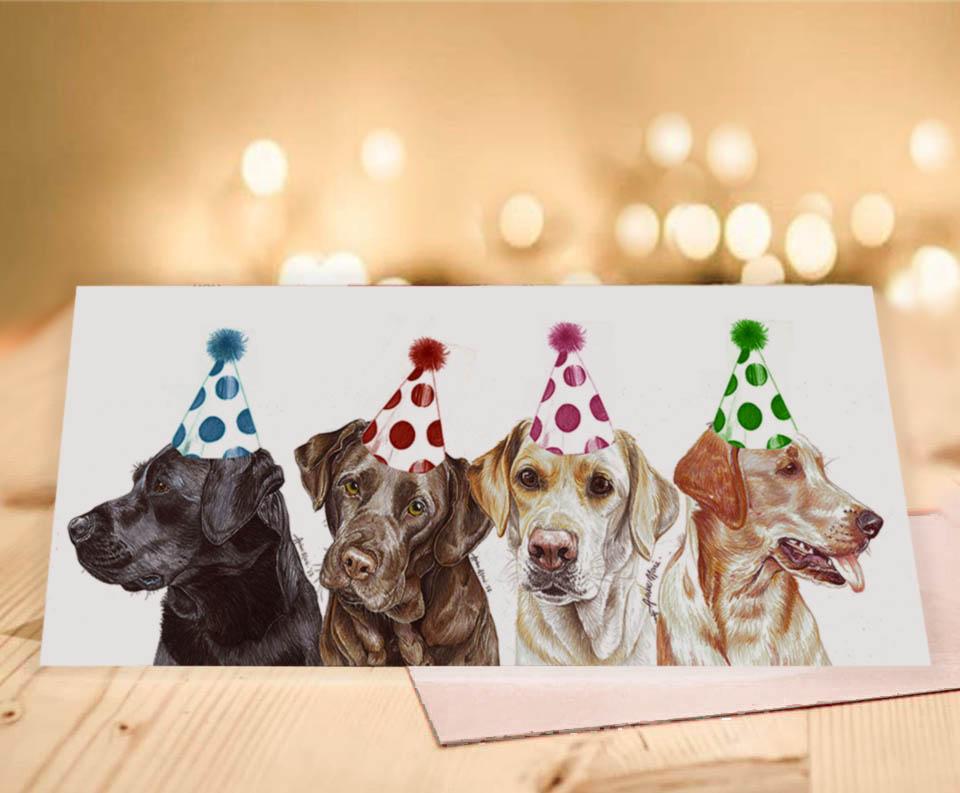Chocolate Labrador Dog Christmas Gift Bag Large NEW With Gift Card