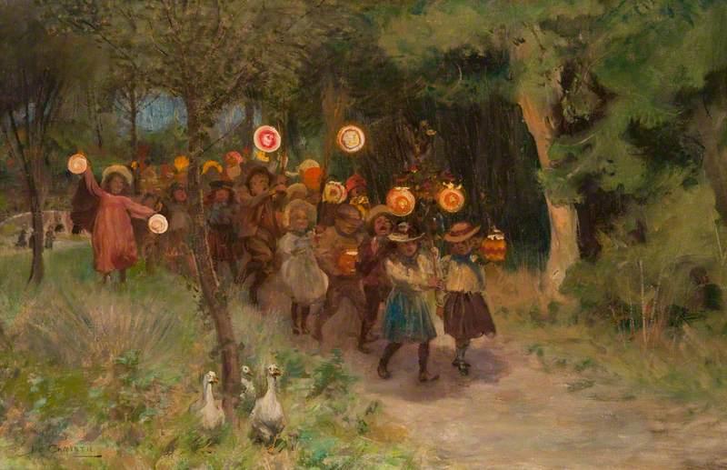 Halloween Frolics James Elder Christie (1847–1914) Paisley Art Institute Collection