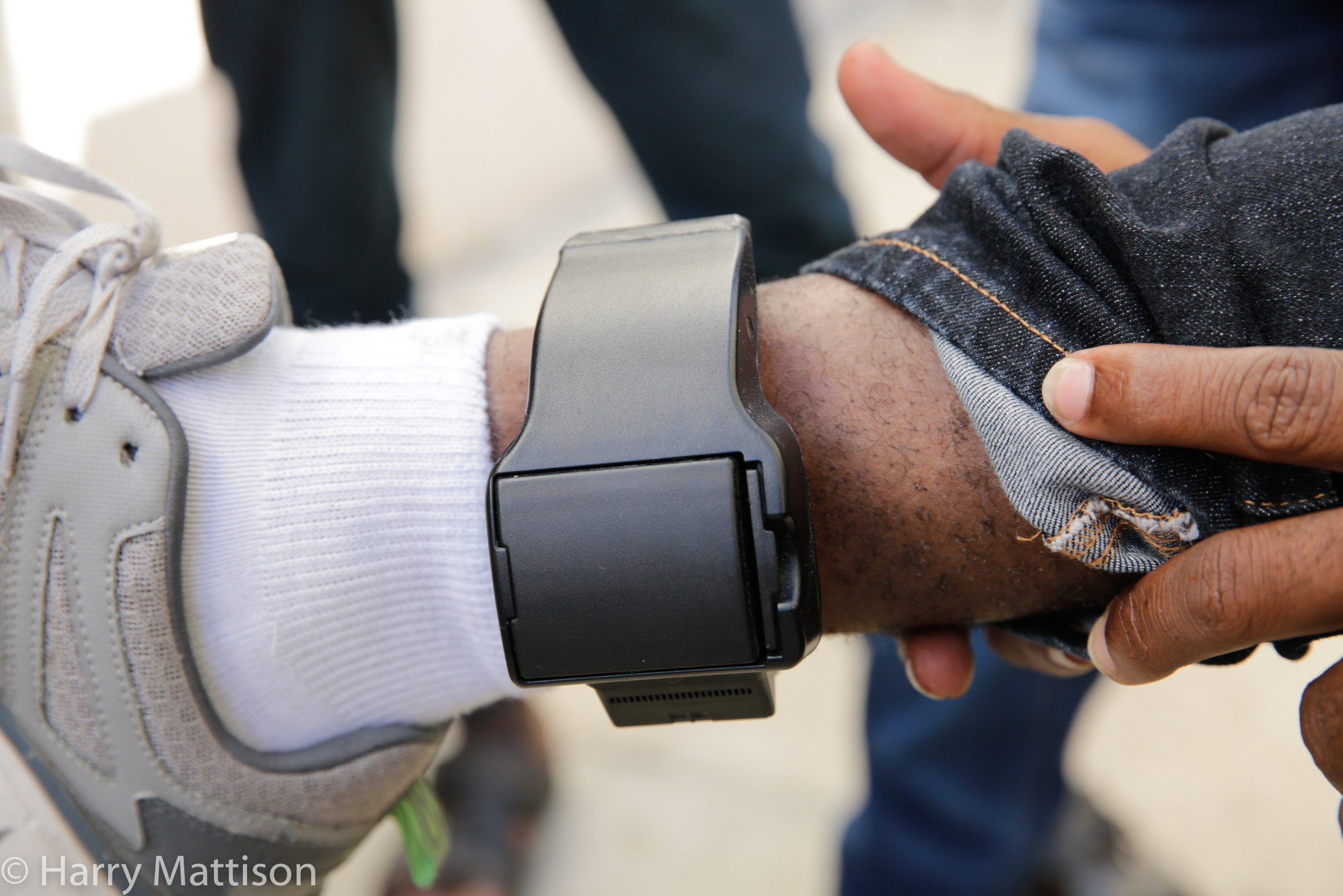 US Immigration GPS tracking device for migrants entering the US.