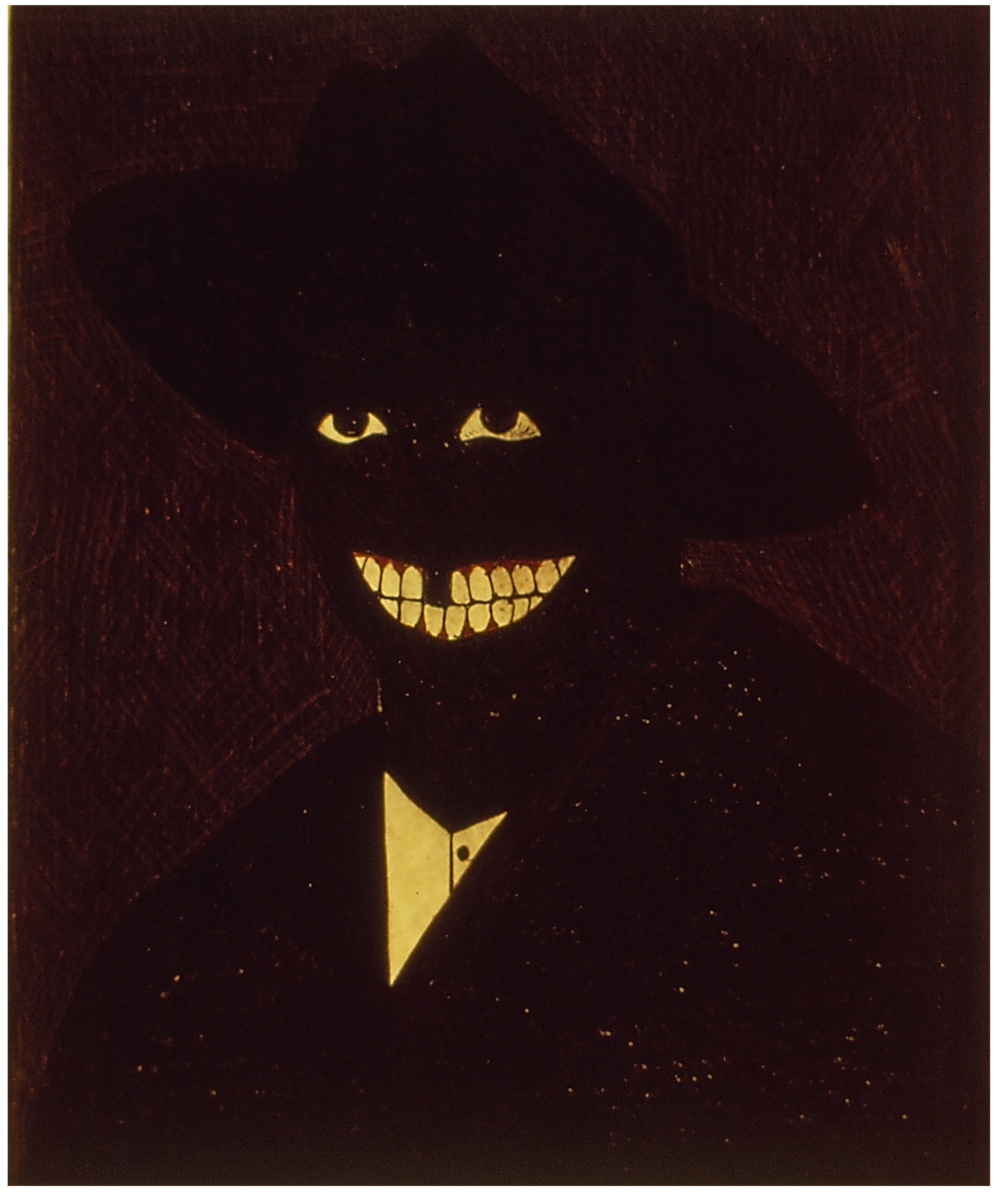 Kerry James Marshall,  Portrait of the Artist as a Shadow of his Former Self , 1981. Egg tempera on paper, 9 × 7 in.©Kerry James Marshall.Courtesy of the artist and Jack Shainman Gallery, New York.