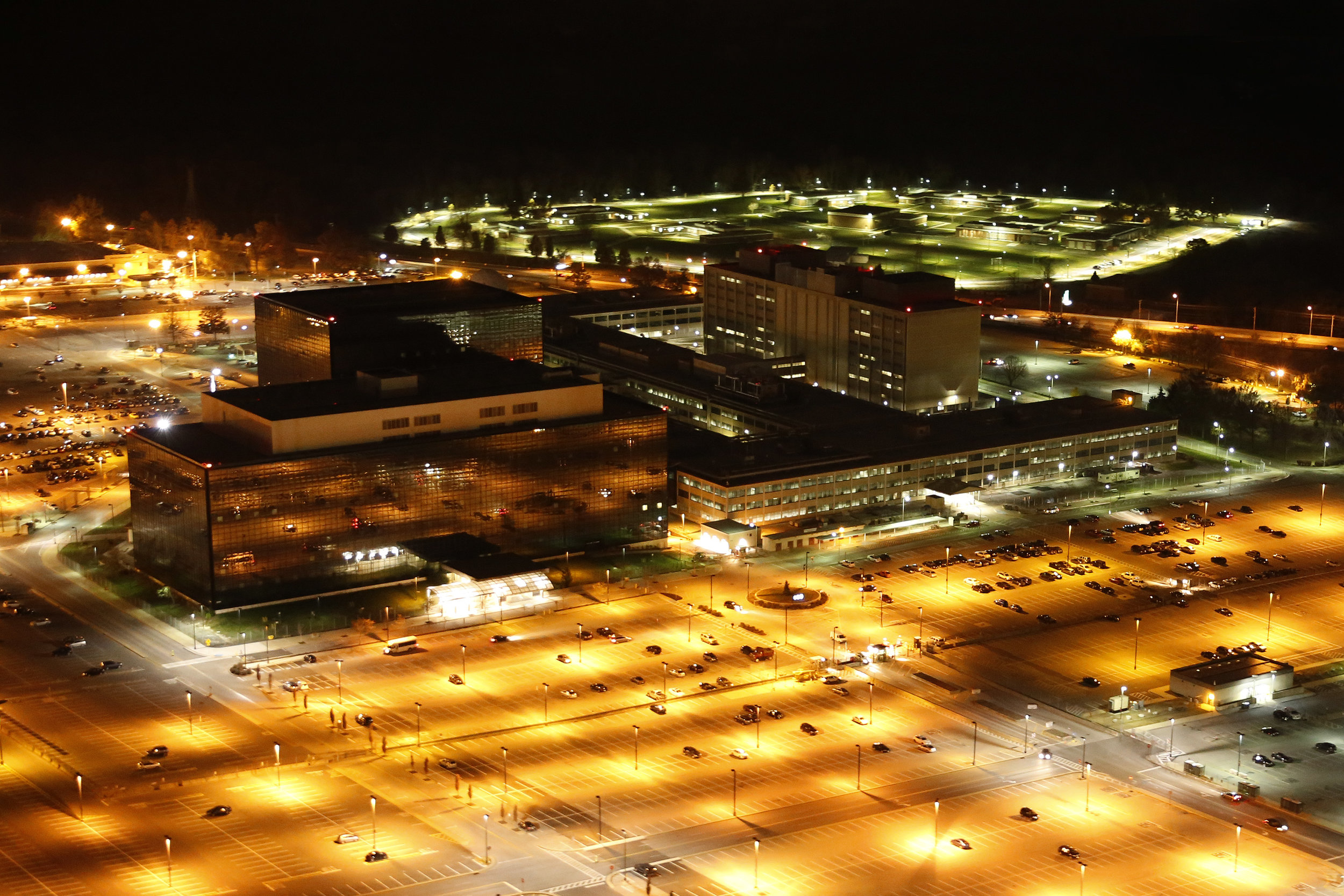 Trevor Paglen, aerial photo of National Security Agency, 2013. Digital photograph, from Wikimedia Commons.