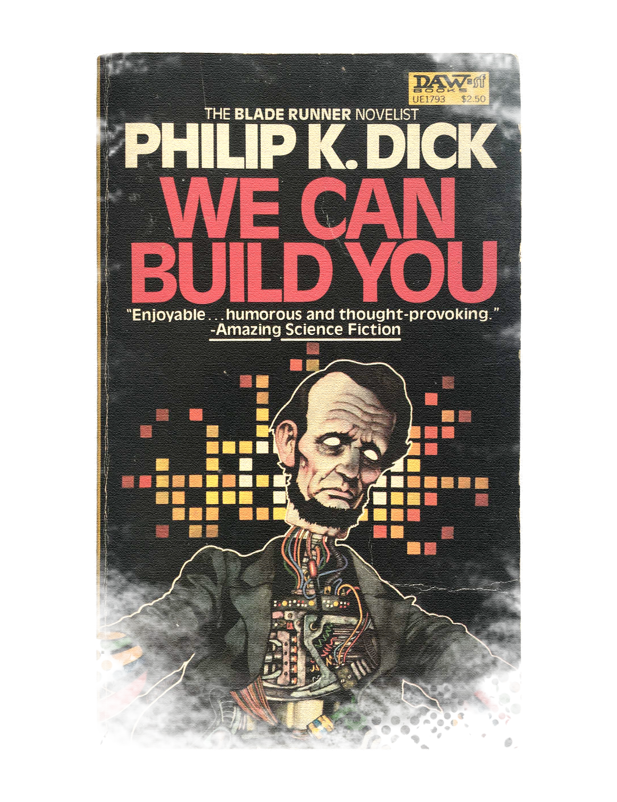 Philip K. Dick,  We Can Build You , 1983, New York City, NY: DAW Books. Cover Design by: John Schoenherr