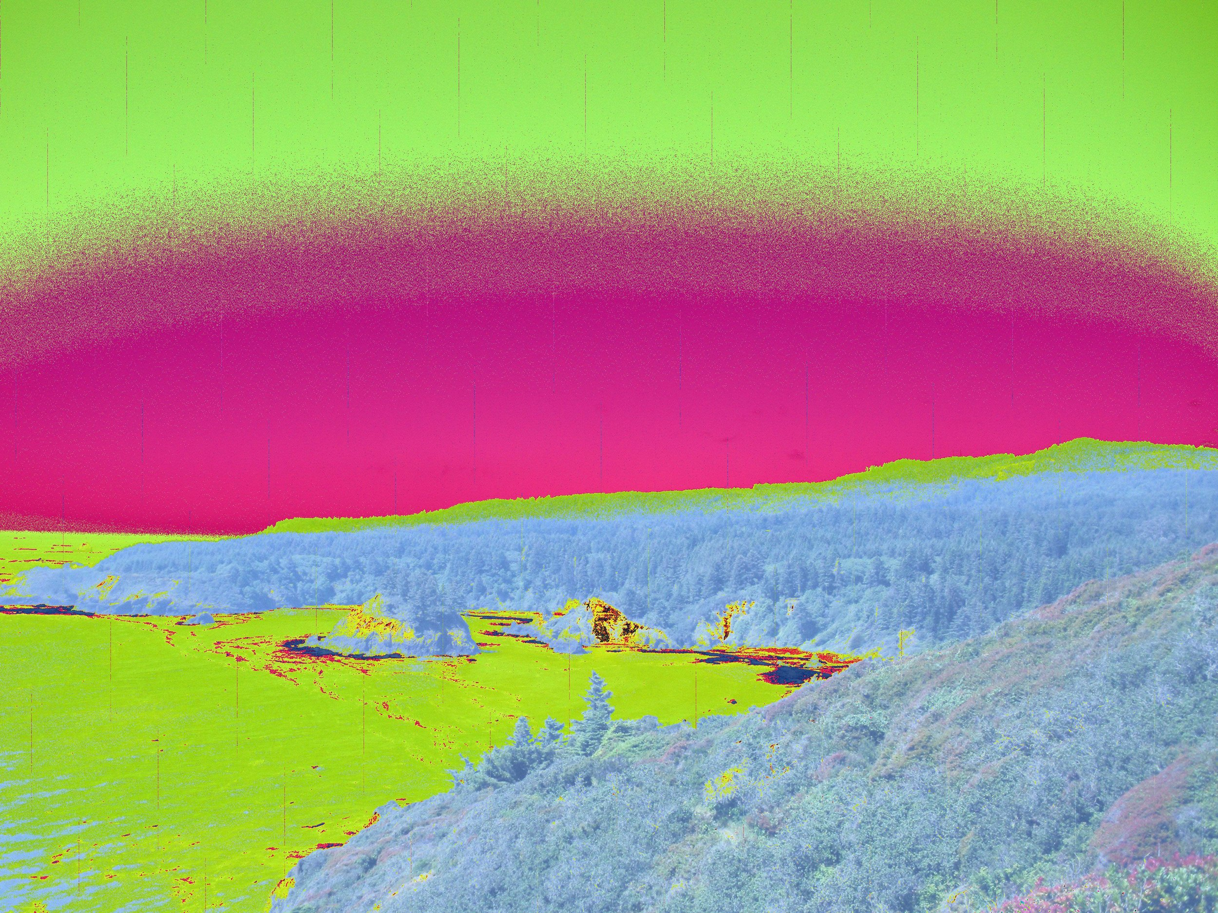 The images in this feature were created by the author using a steganographic algorithm. Trinidad Head, California, 2016.