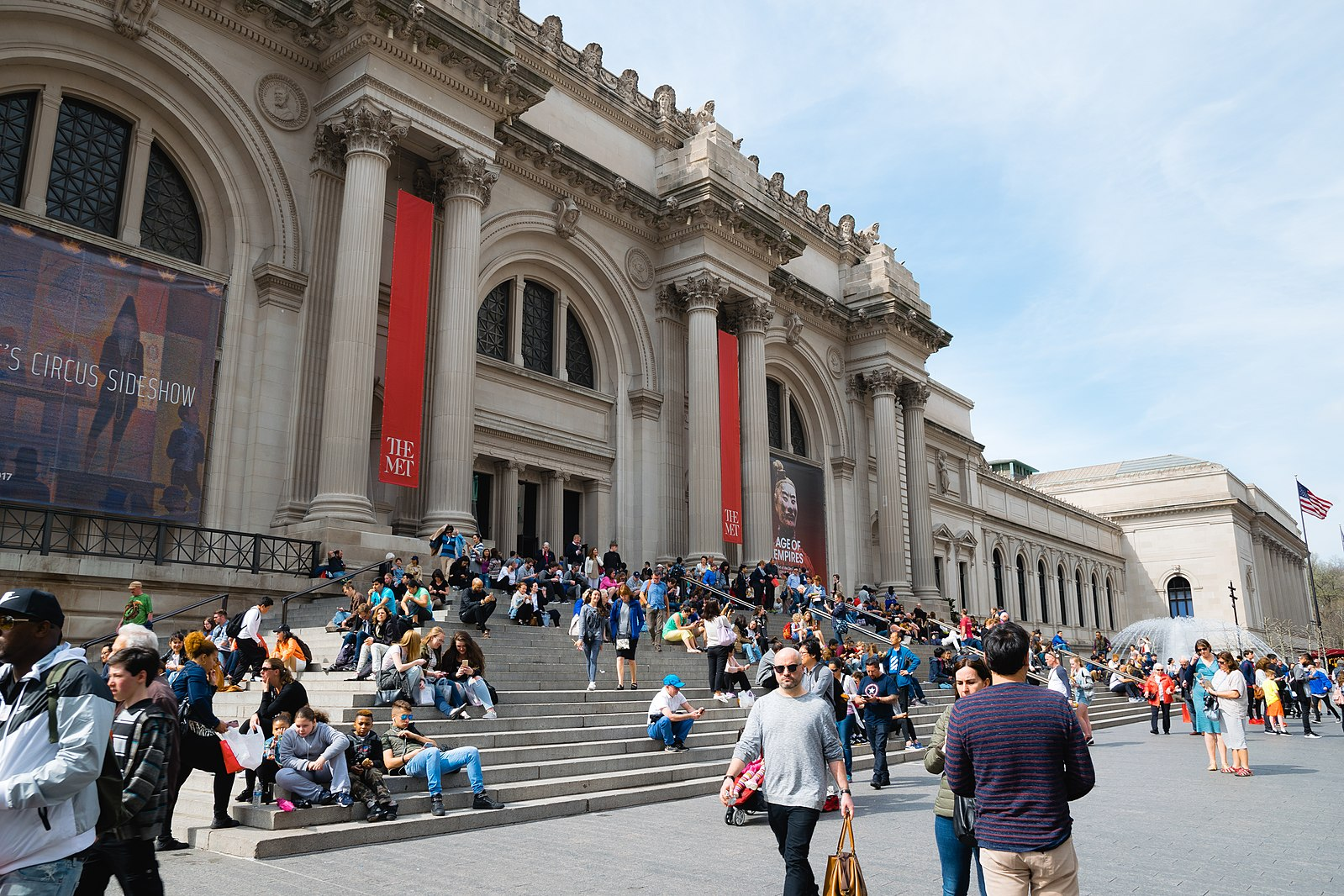 The Metropolitan Museum of Art,  Kai Pilger :  https://commons.wikimedia.org/wiki/File:The_MET.jpg  This file is licensed by  Creative Commons   Attribution-Share Alike 4.0 International .