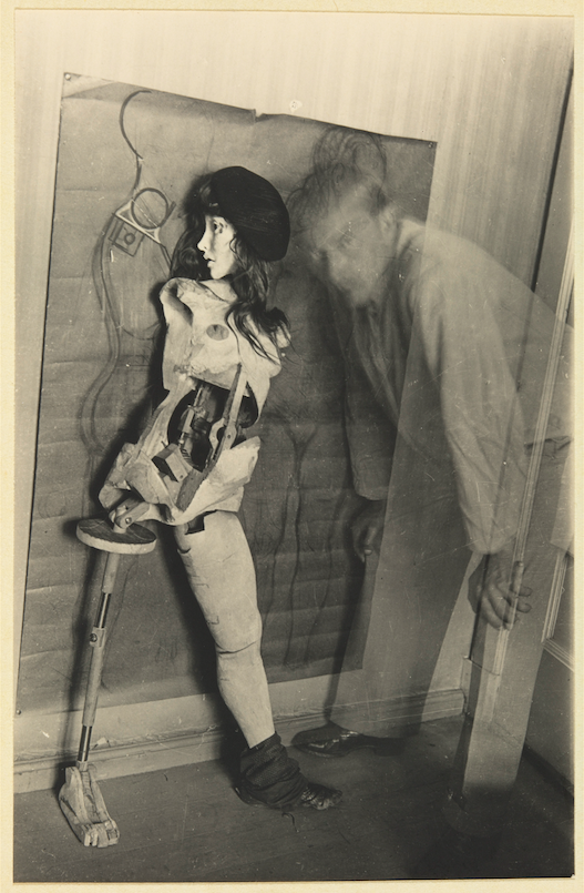 Hans Bellmer, Plate from  La Poupée , 1936. Gelatin Silver Print, 4 5/8 x 3 in. Courtesy of the MOMA. © 2019 Artists Rights Society (ARS), New York / ADAGP, Paris.