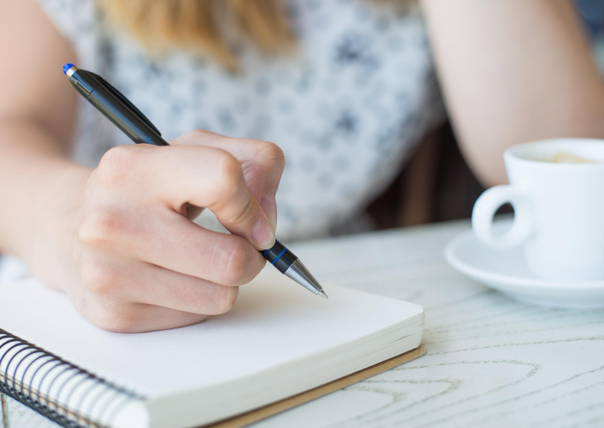 Journaling during morning routine