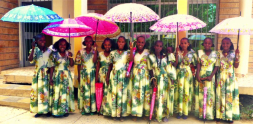 Graduating Safe Motherhood Ambassadors at the Healing Hands of Joy Center in Mekelle. These women will now go home to their village and search for other victims of obstetric fistula. Photo used with kind permission by Allison Shigo, Healing Hands of Joy.