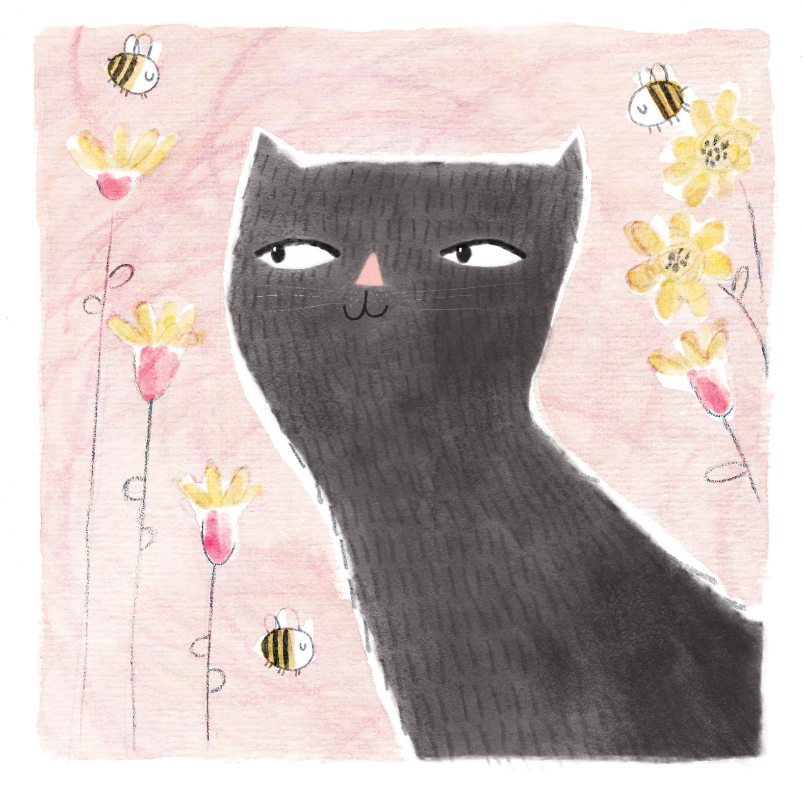 BEES & BLACK CAT