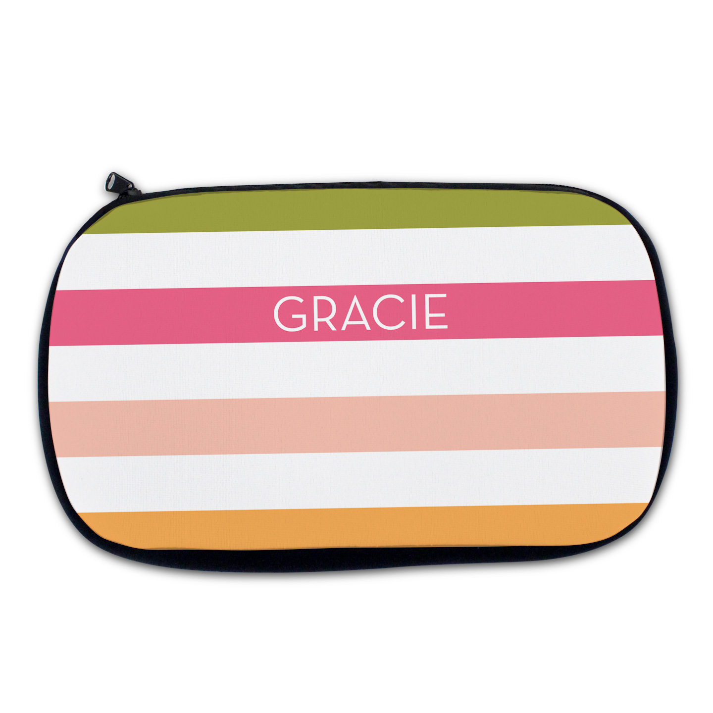 Watermelon Stripe Cosmetic Bag