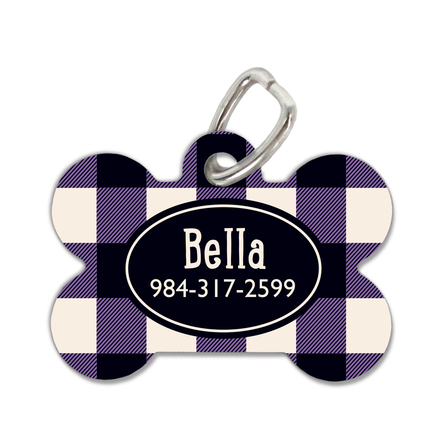 Royal Plaid Dog Tag