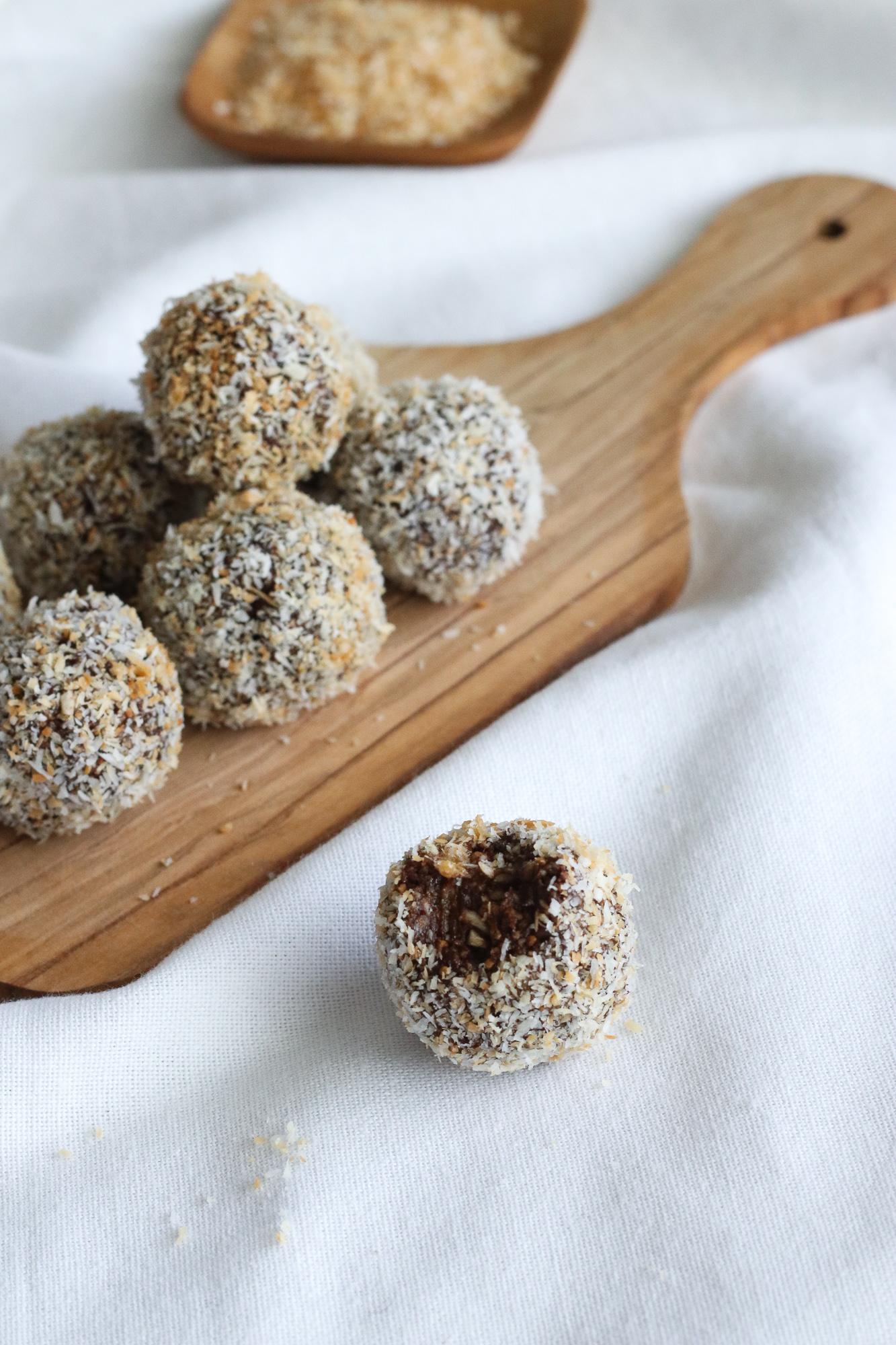 vegan nut free protein balls