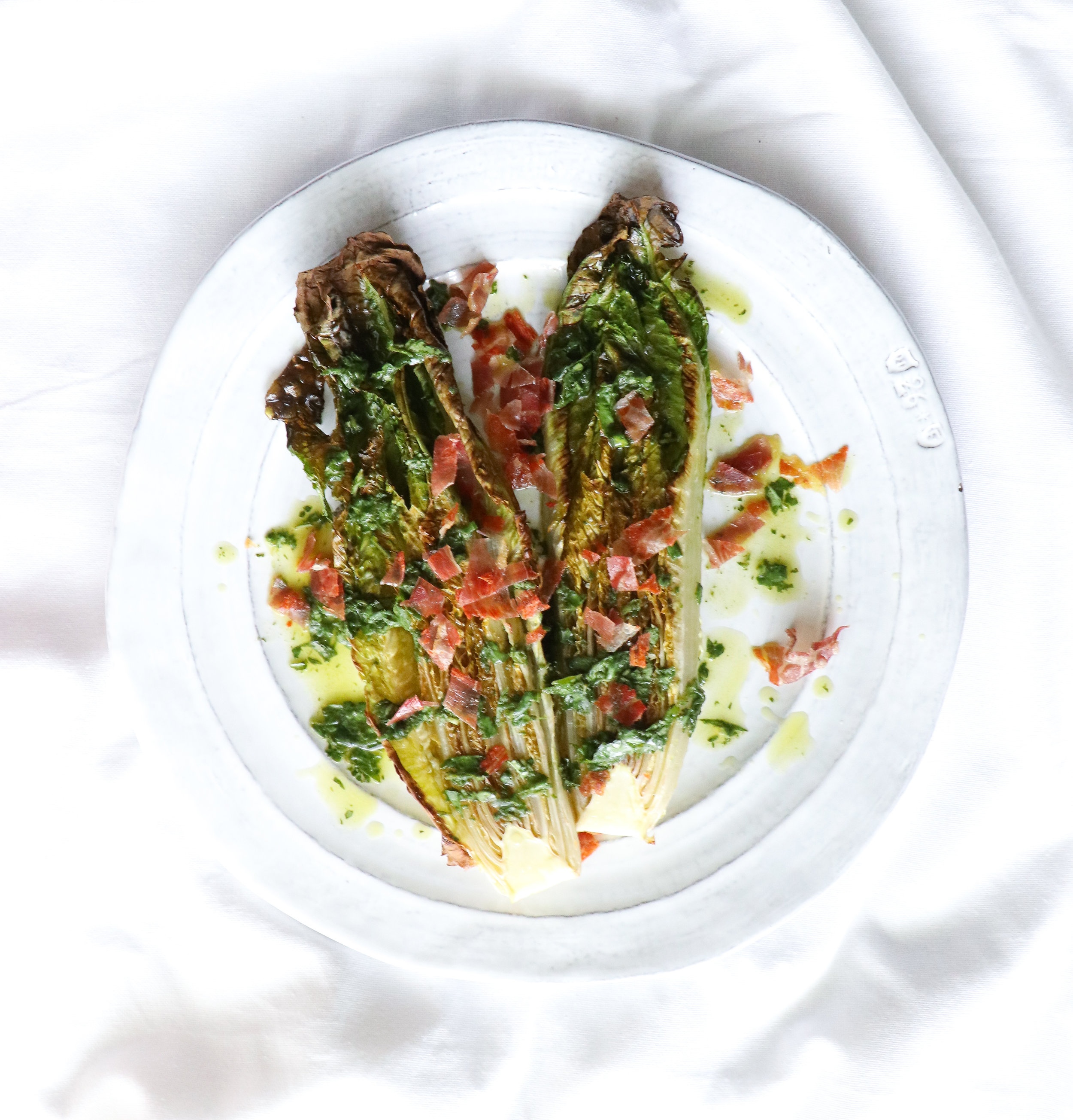 BBQ romaine lettuce top 8 allergen free