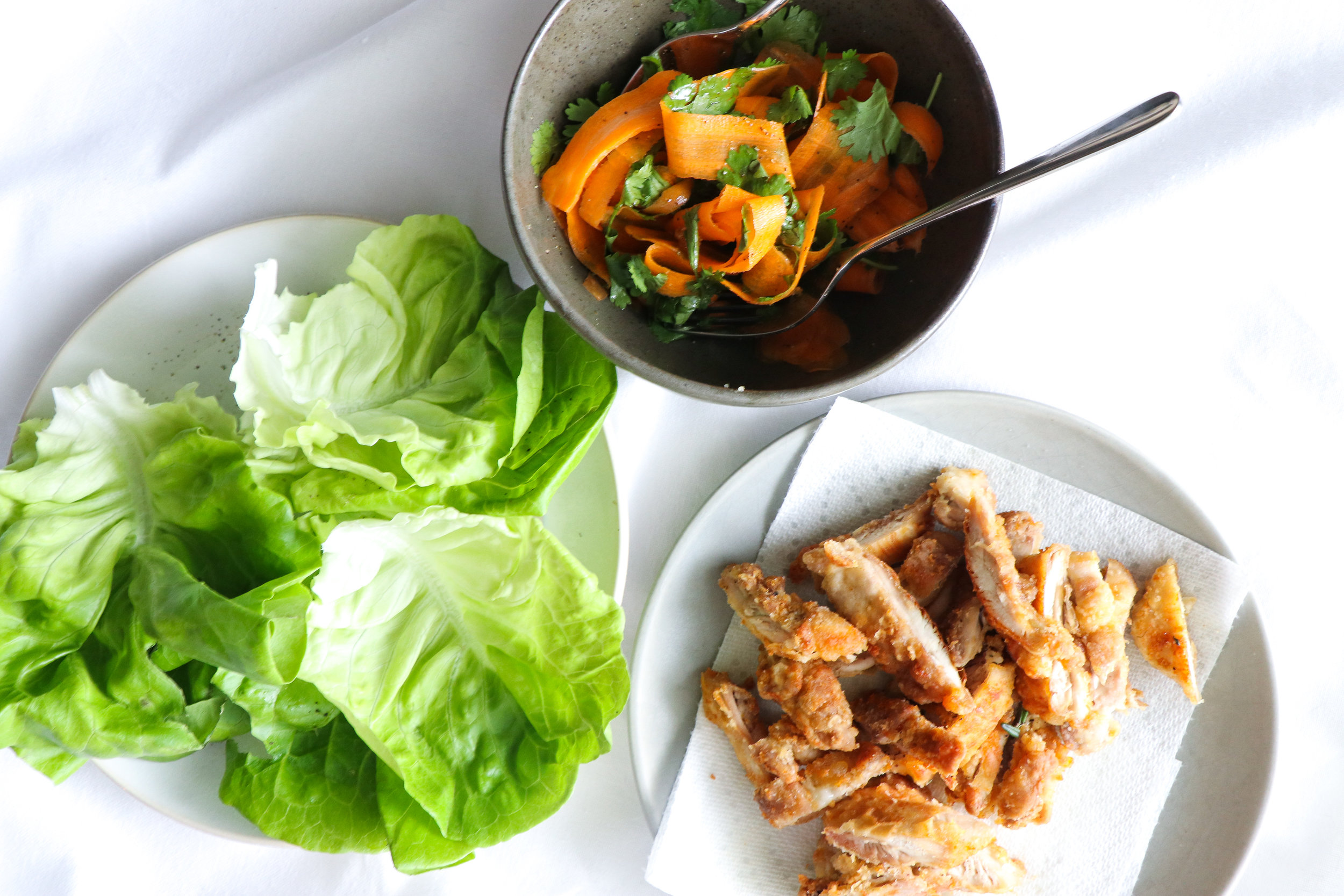 crispy chicken lettuce wraps