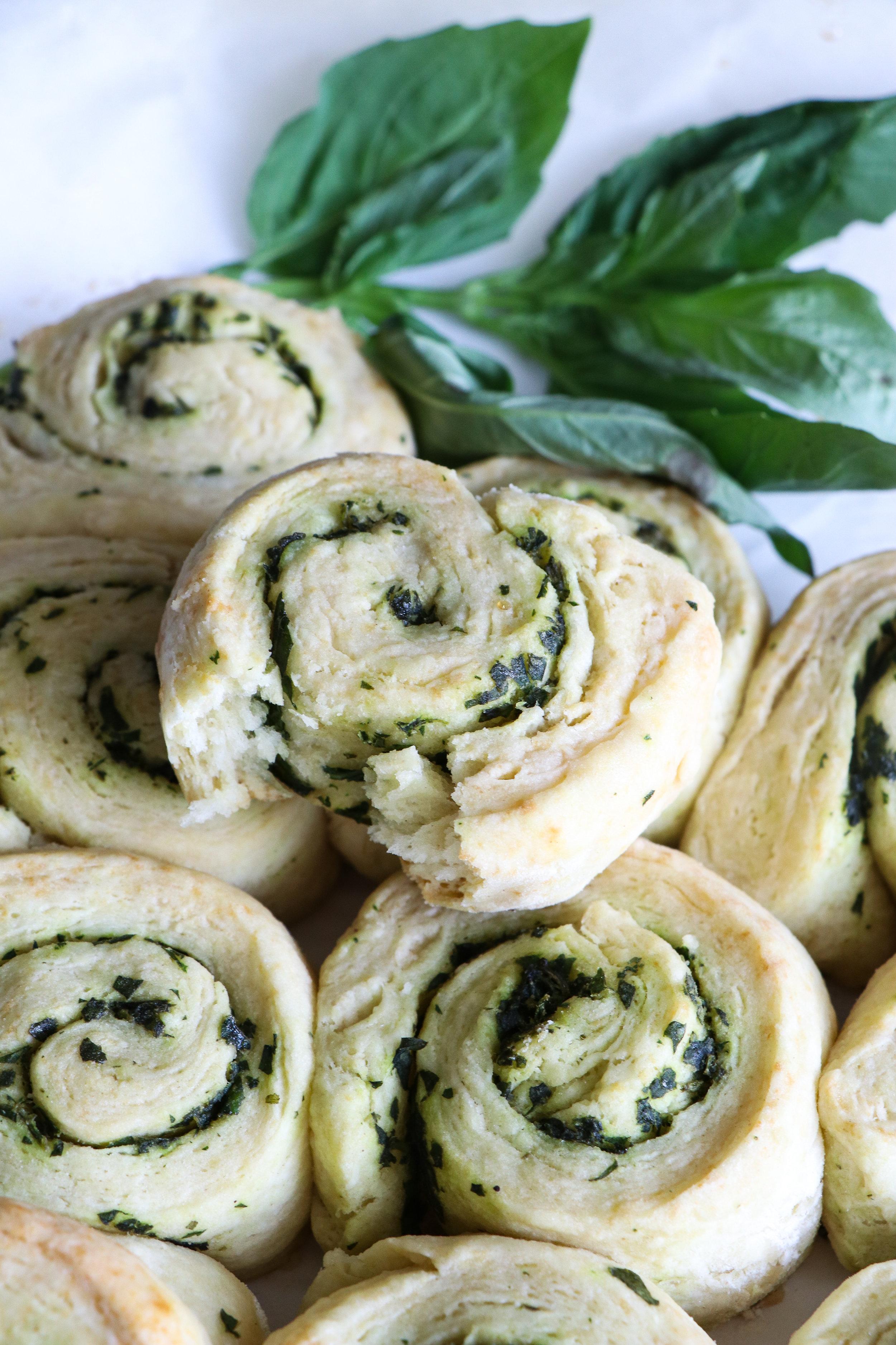 dairy free herb scone rolls recipe