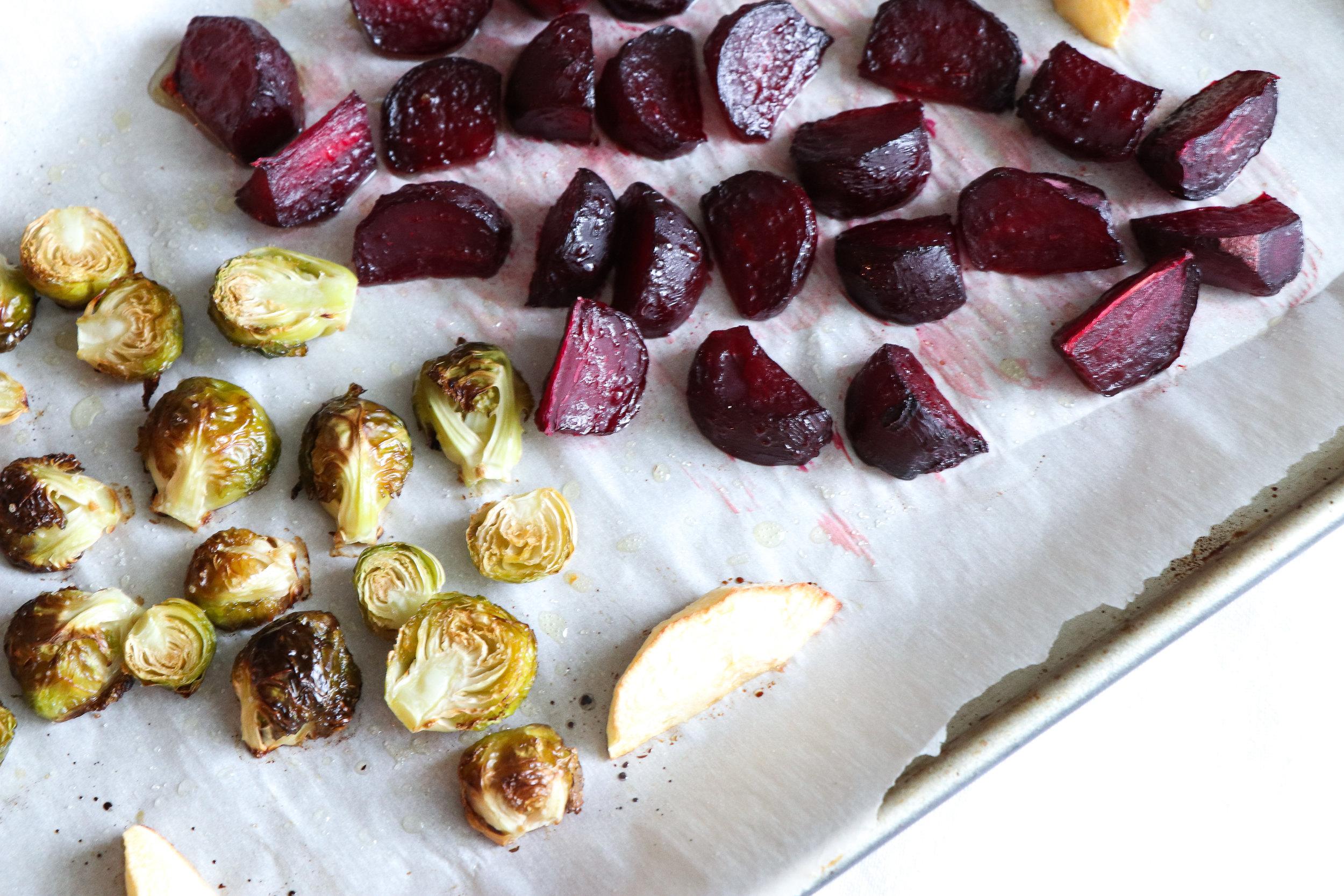 autumn roasted apple salad recipe