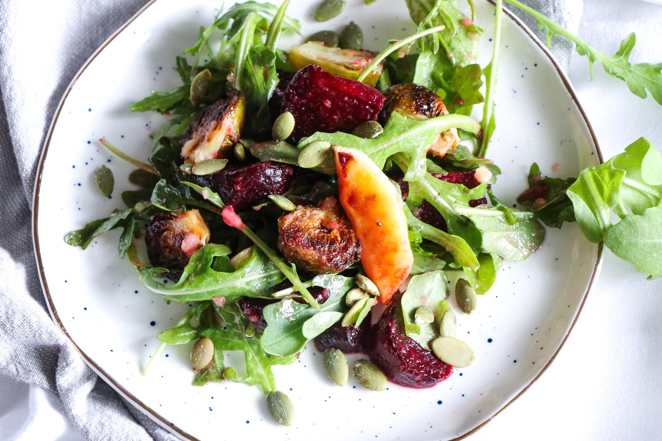 autumn roasted salad recipe inspiration