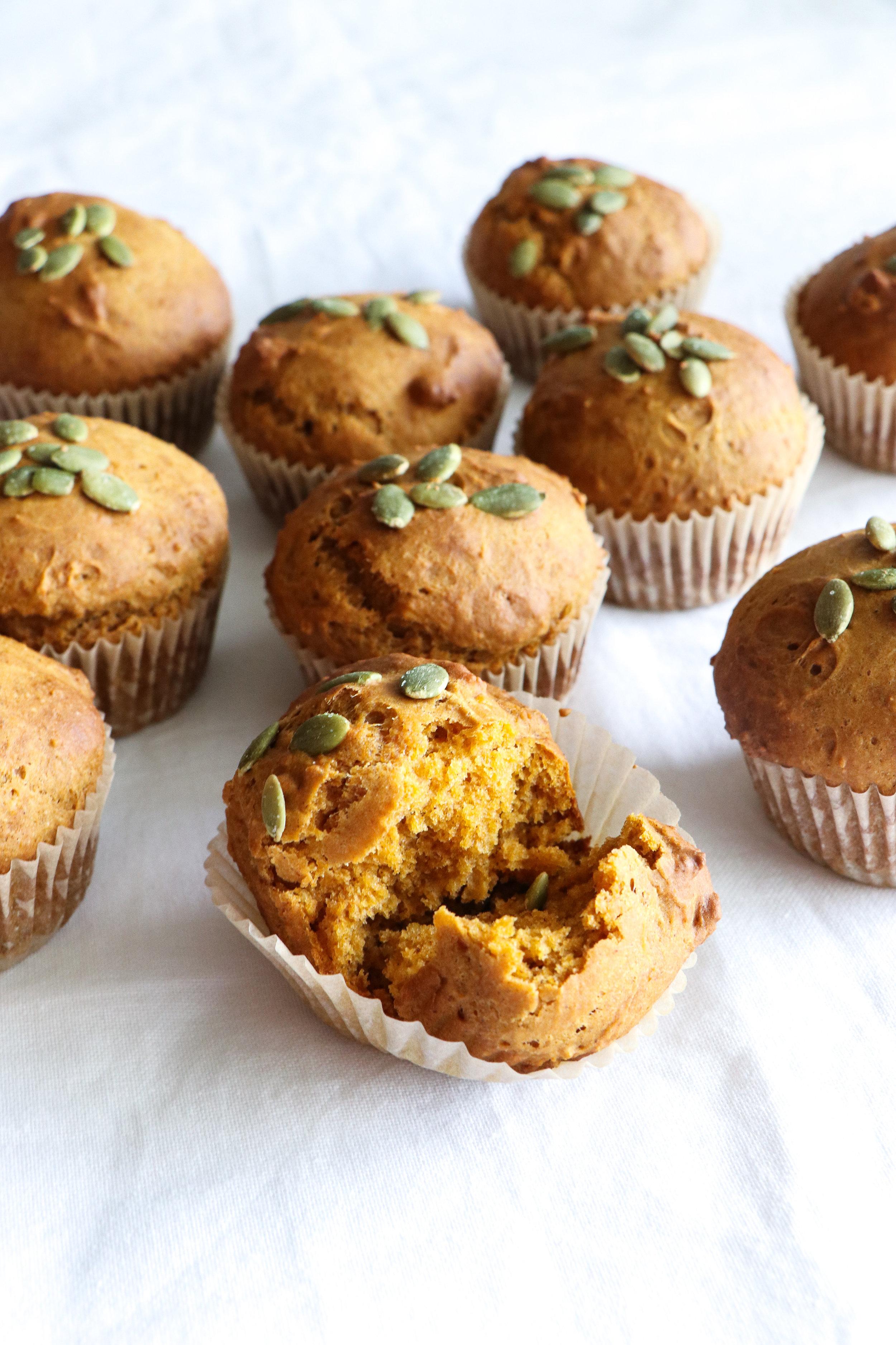 dairy and egg free pumpkin breakfast muffin recipe