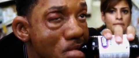Allergic reaction scene in the movie  Hitch