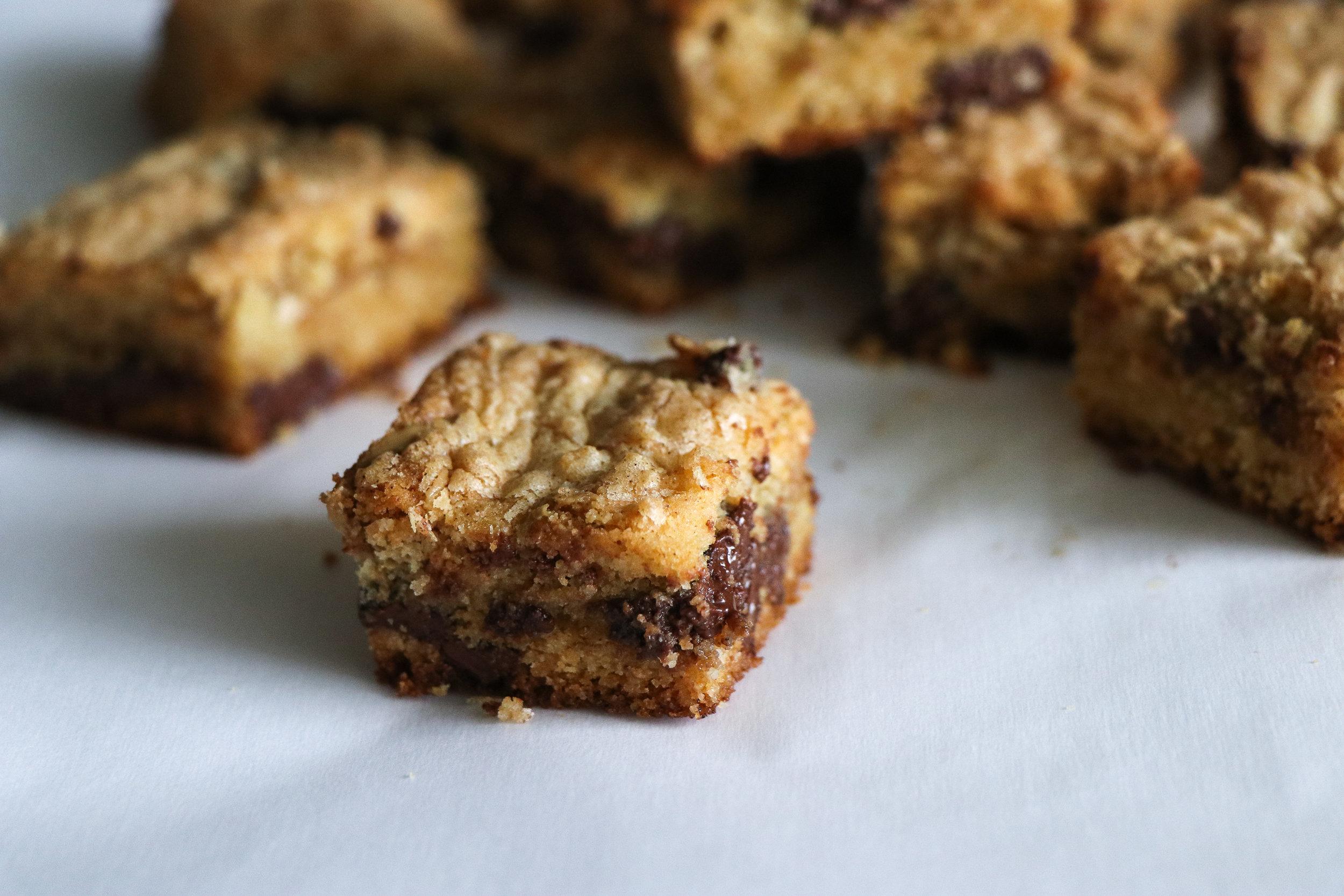 sunbutter cookie bars