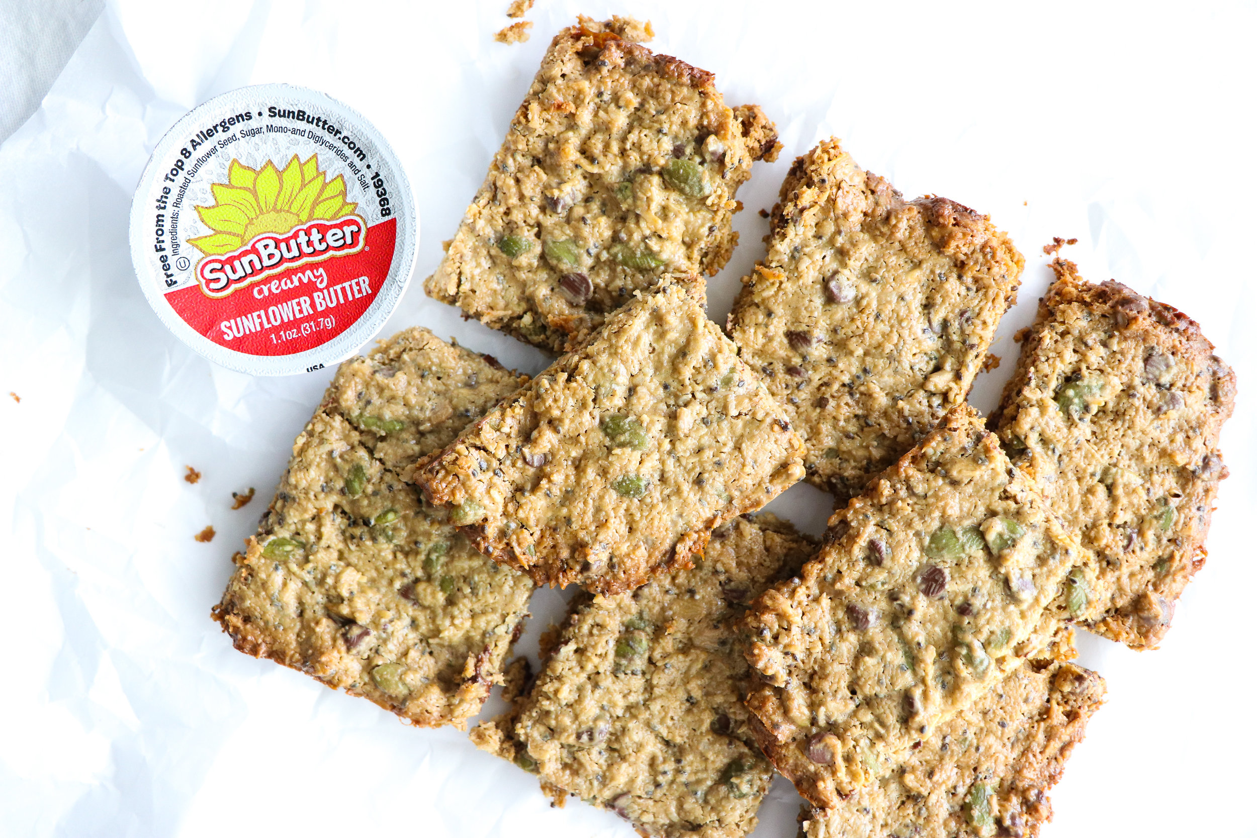 vegan nut free dairy free breakfast bars