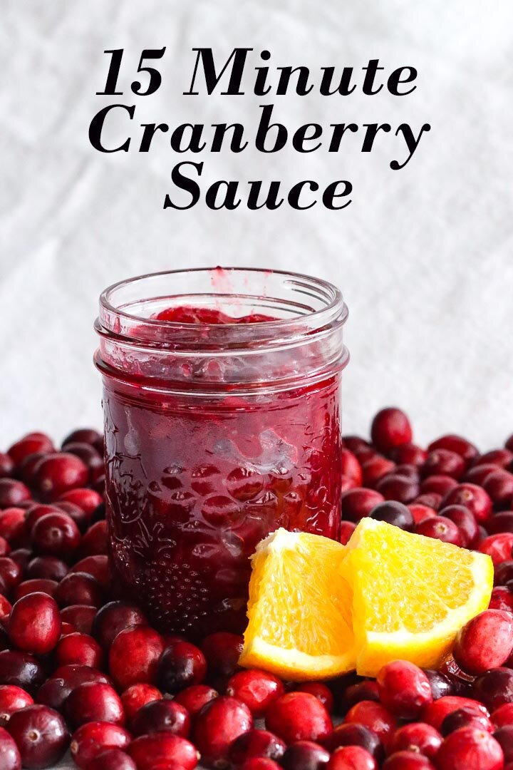 15 minute cranberry sauce