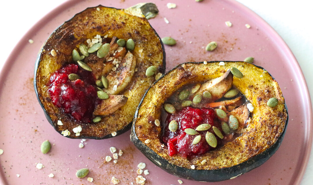 baked loaded acorn squash dairy free