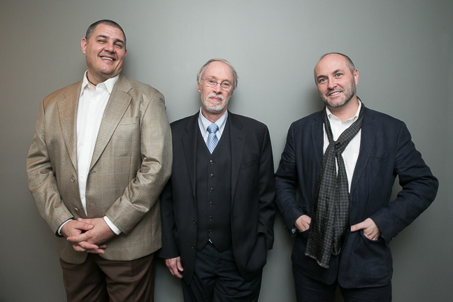 Adam Johnson, Charles Baxter, and Colum McCann. (Event photos by Beowulf Sheehan.)