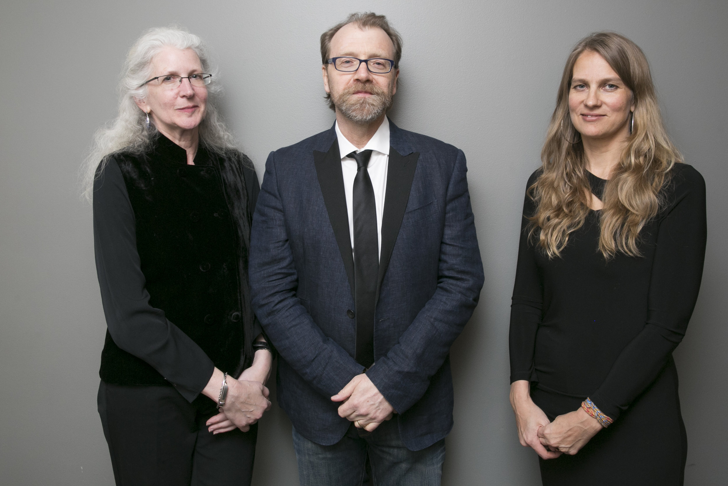 Andrea Barrett, George Saunders, and Rebecca Lee. ( Event photos by Beowulf Sheehan.)