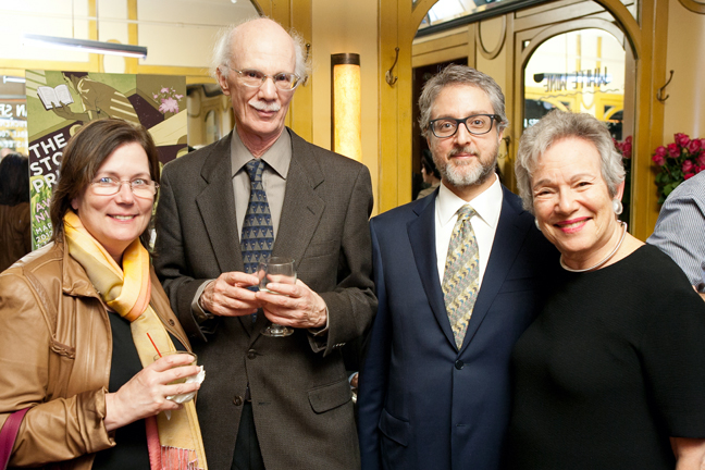 Julie Lindsey, Steven Millhauser, Larry Dark, and Edith Pearlman. (Event photos by Beowulf Sheehan.)
