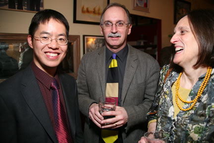 Vincent Lam, Jim Shephard, and Tessa Hadley. (Event photos by Mercedes McAndrew.)