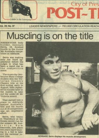 Post Times Australia 1986 Teenage Mr Victoria Winner