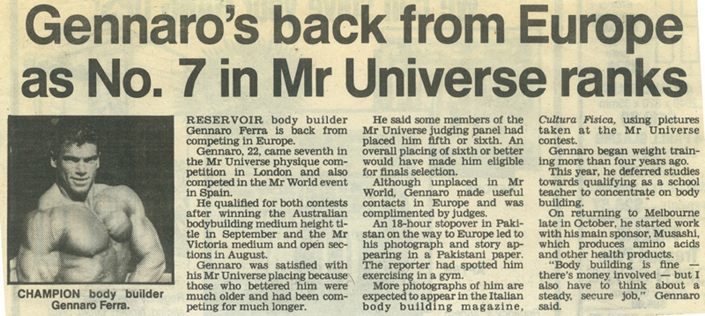 Post Times 1989 Mr. Australia winner