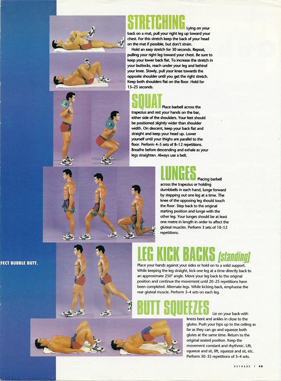 Australian fitness magazine ,Butt routine