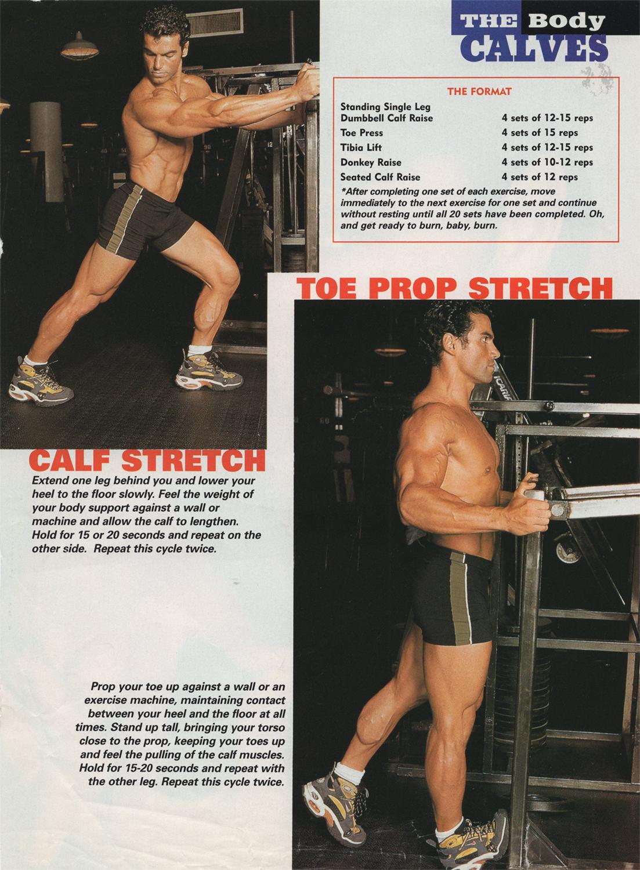 Gym magazine,   calf routine