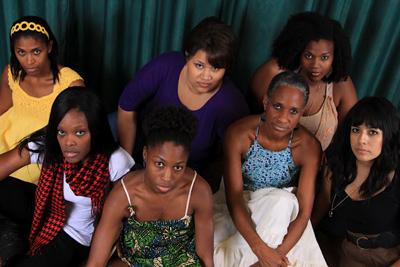 Whitney Weathersby, Sadé Jones, Chelsea Manasseri, Patricia Robinson, Ebony Stewart, Minerva Villa, and Chandra Washington.