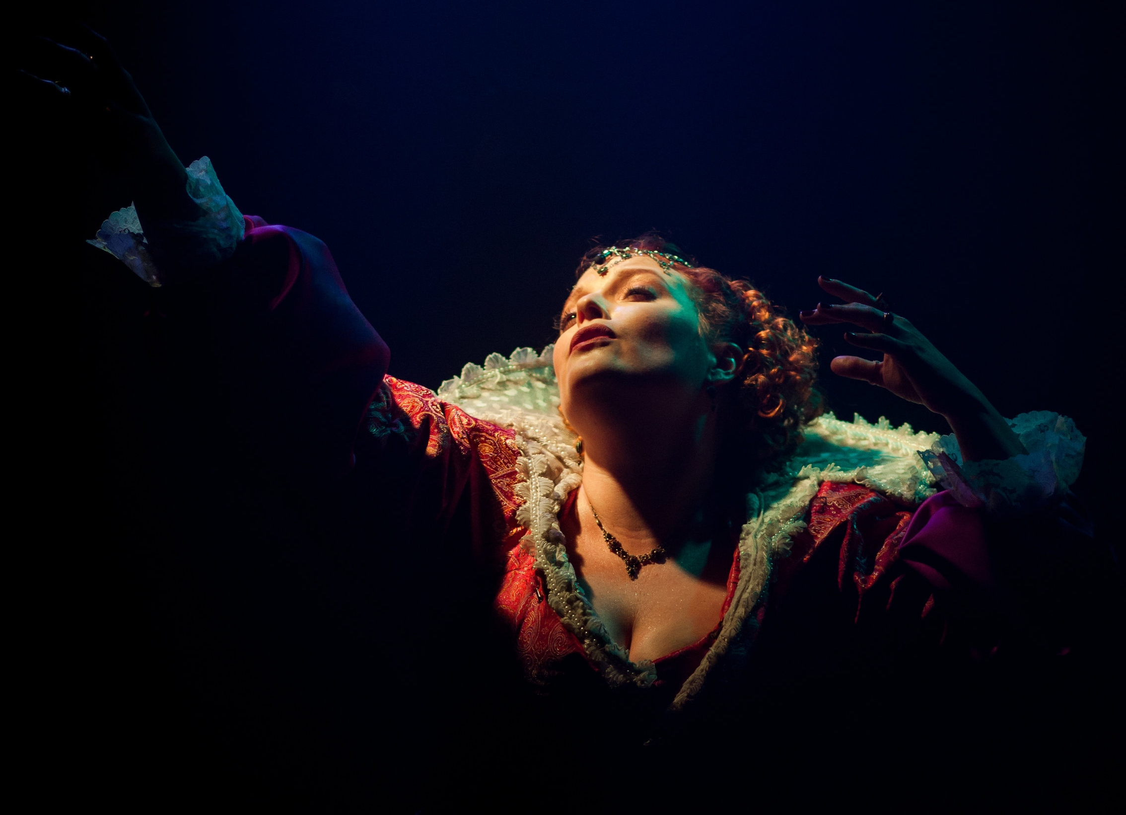 Melissa Vogt as Erzsebet Bathori. Photo by Kimberley Mead.