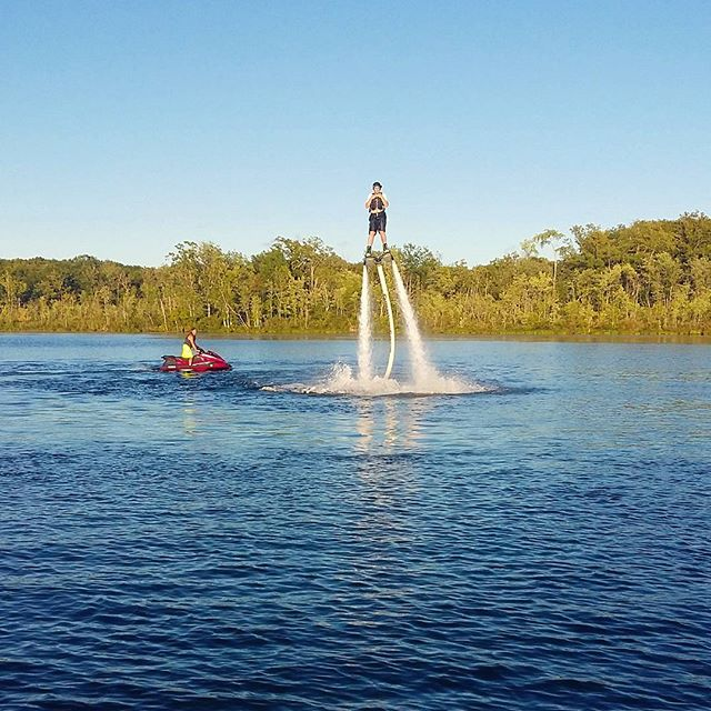 Very impressive first time flyer! #extremehydroflight #flyboarding #saratogasprings ##hydroflight