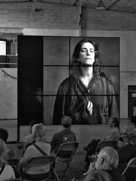 """The artist seeks contact with his intuitive sense of the gods, but in order to create his work, he cannot stay in this seductive and incorporeal realm. He must return to the material world in order to do his work. It's the artist's responsibility to balance mystical communication and the labor of creation.""--Patti Smith, Just Kids"