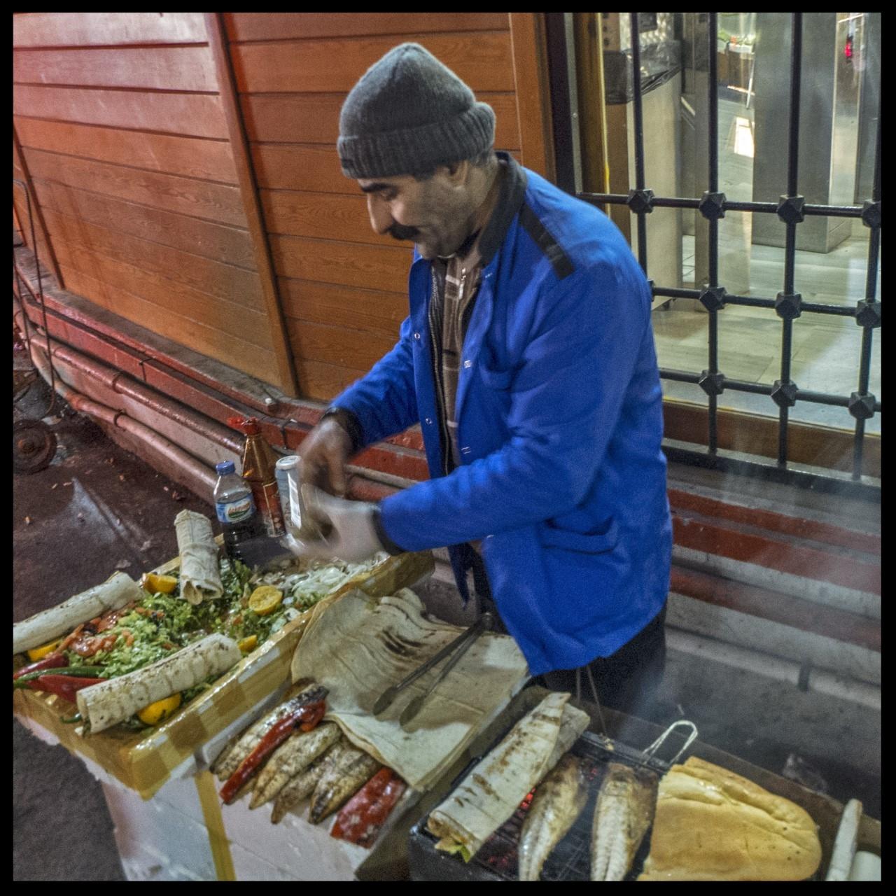 Master sandwich maker (photo by J. Yuenger)