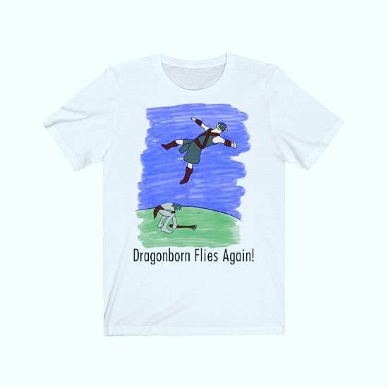Dragonborn Flies Again! Drawn for all Skyrim lovers who have flown high above Skyrim curtesy of a Giant's club. Check it out let us know what you think. We take suggestions!