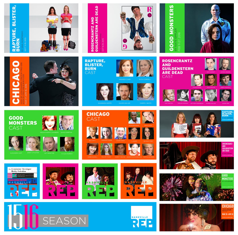 2015-2016 Season | Season Long Design | Includes Social Posts, Facebook Covers, Profile Photos from 2015-2016