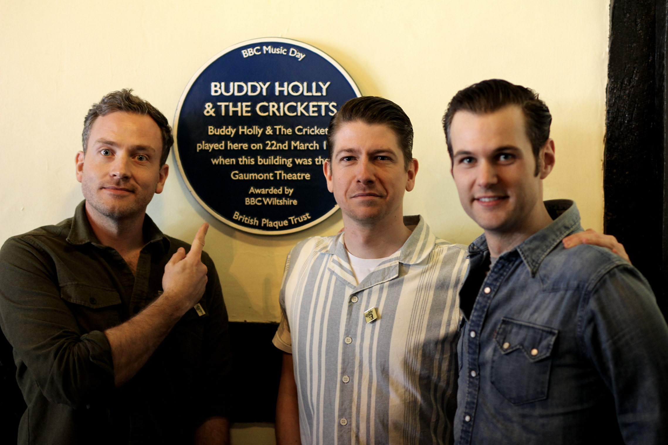 The Bluejays Buddy Holly Blue Plaque Salisbury Gaumont Theatre