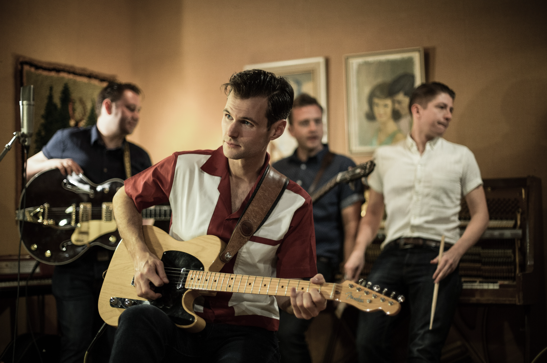 The Bluejays, featuring Ollie Seymour-Marsh, Dan Graham and Chris Reid, are a youthful band whose new show, Rock and Roll Revolution, doubles as a history lesson in 50s music