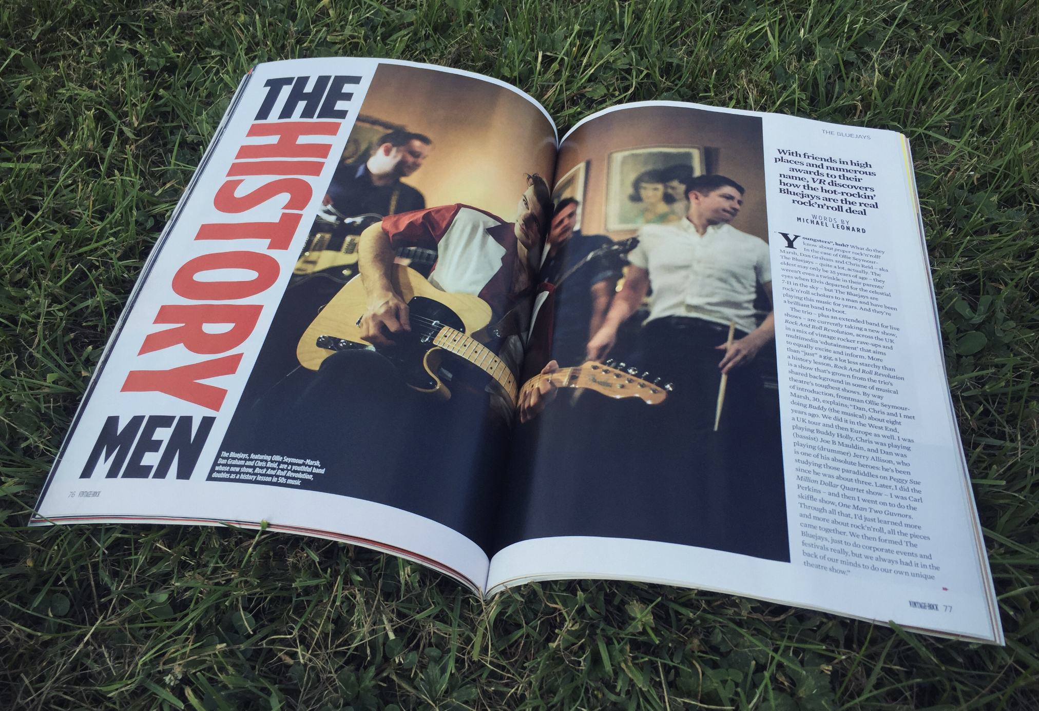The Bluejays in  Vintage Rock  Magazine Issue 36