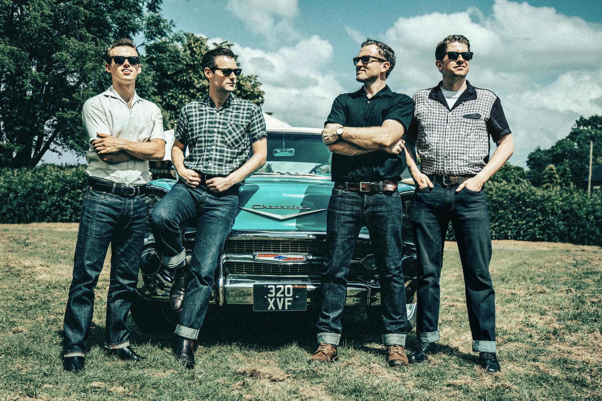 The Bluejays Cadillac 1950s Rock n Roll Band UK.jpg