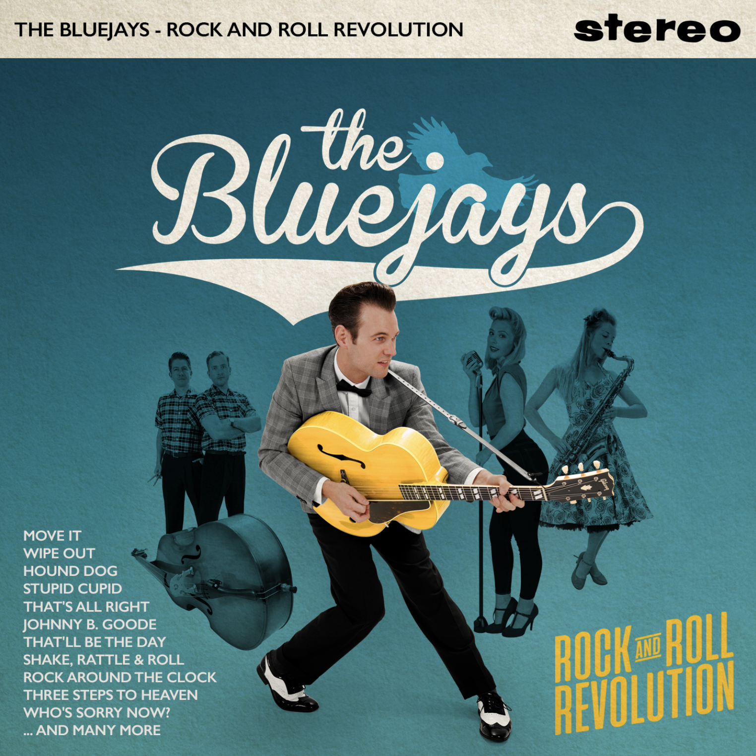 The Bluejays - Rock and Roll Revolution.  21-Track album available as CD/Download