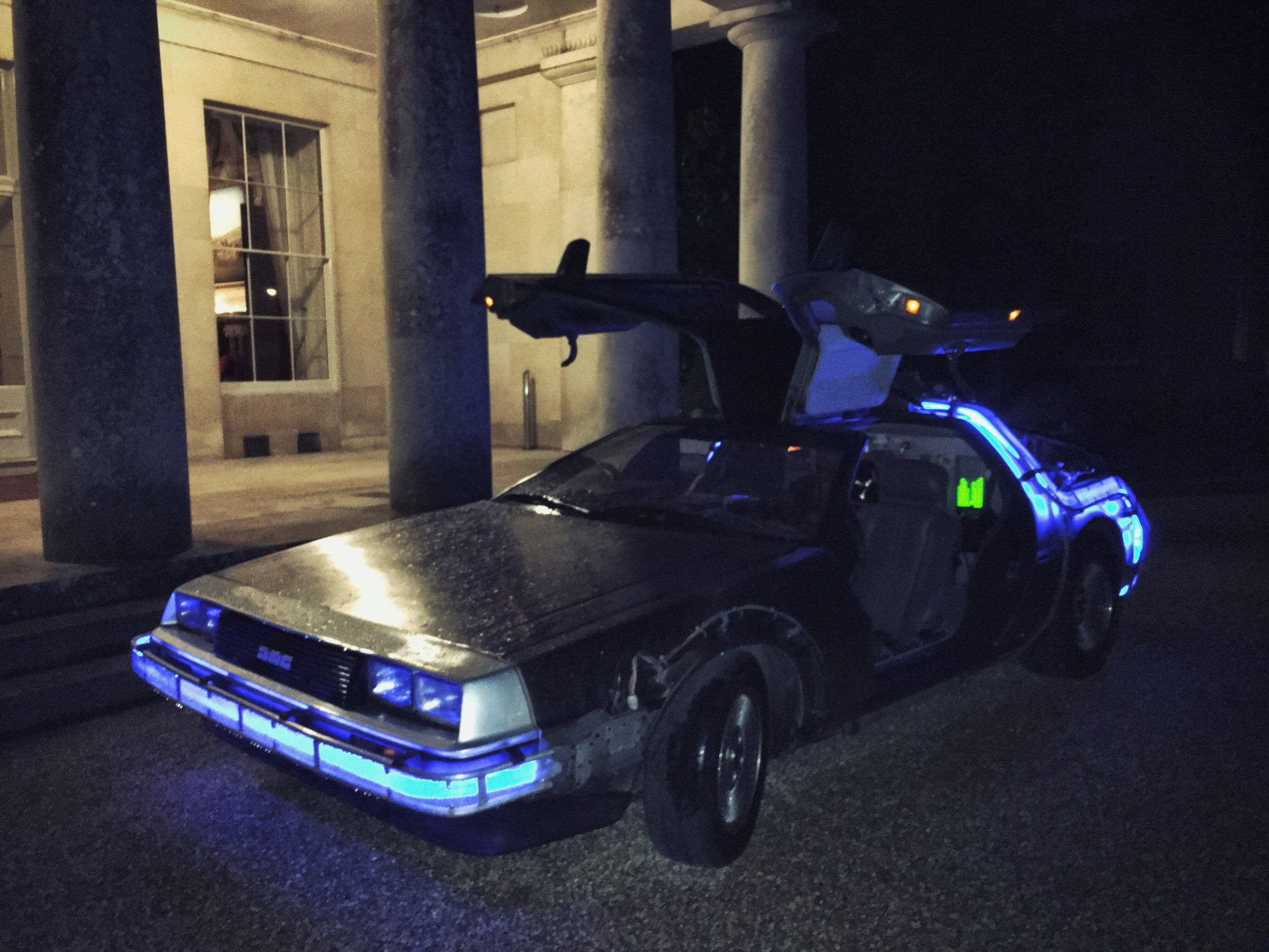 The Bluejays -  Back To The Future  themed events - The Delorean