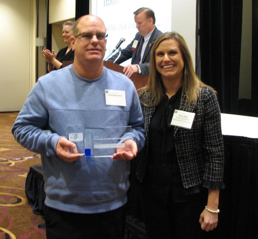 Second Personal Achievement Award - Awarded to: Jeffrey Bowerman