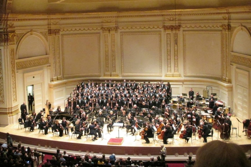 Glee Club and Chorus in Carnegie Hall