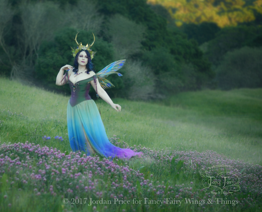 Twilight Fairy in Salome Fairy Wings and Creature of Habit Gown